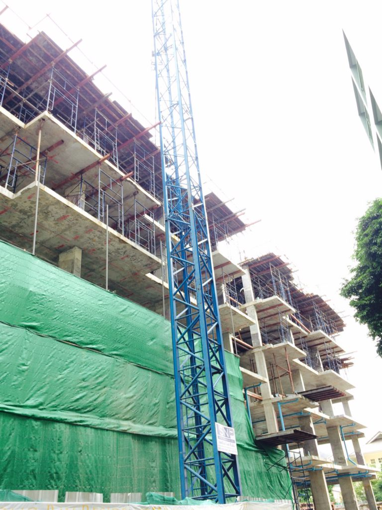 Building Structure Nearing Completion at Patong Bay Residence 2