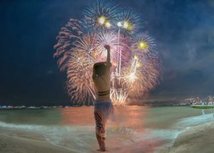 New Year's Eve at the beach
