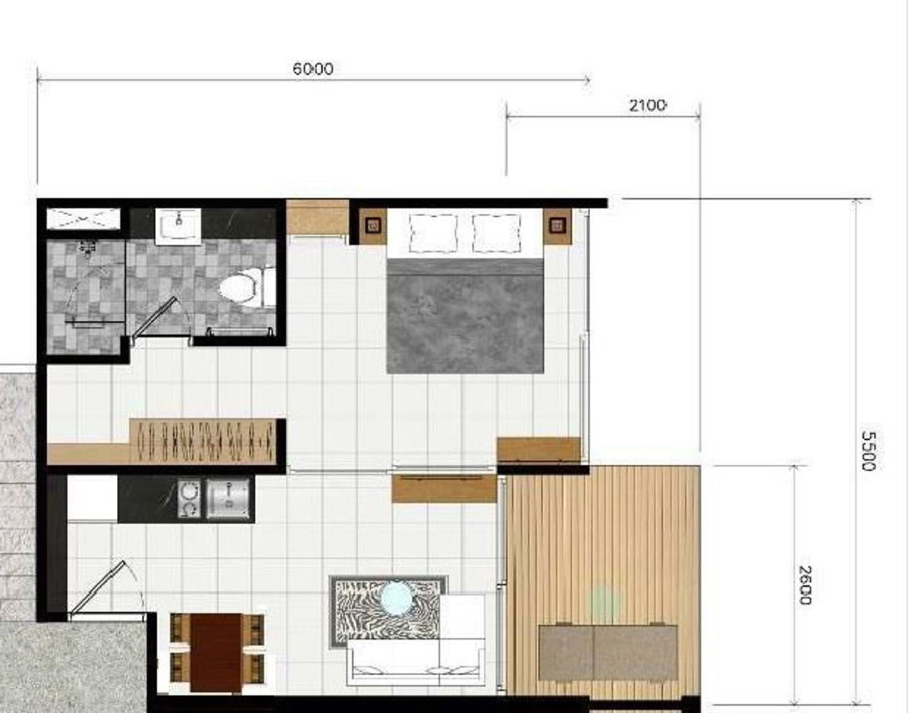 Phuket Holiday Services Naka Sea View Condominium Floor Plan