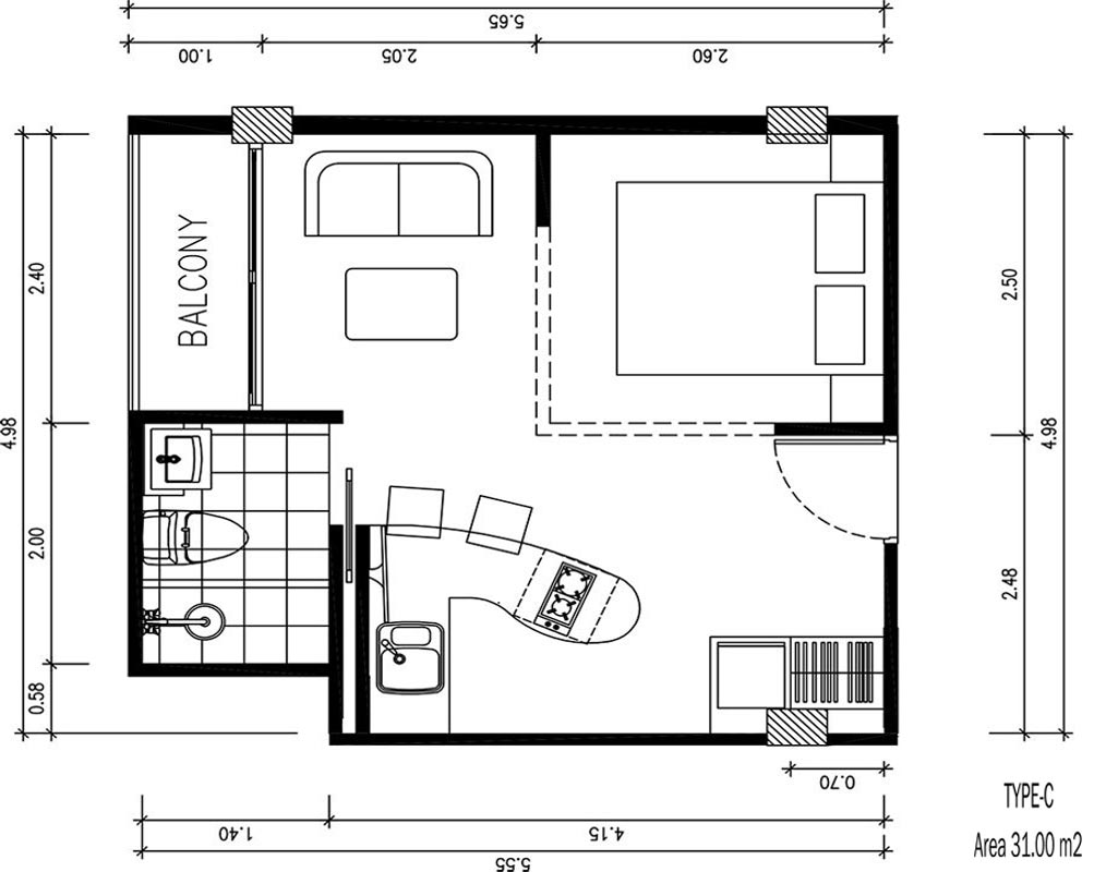 Phuket Holiday Services Patong Bay Residence Floor Plan 1100px 05