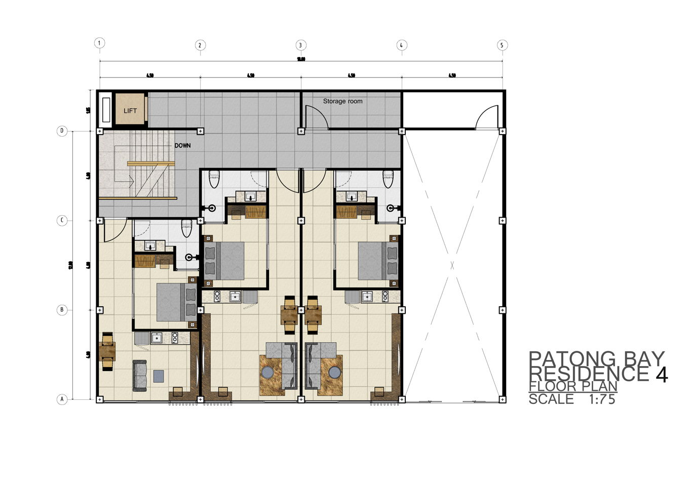 Phuket Holiday Services Patong Bay Residence Phase 4 Floor Plan