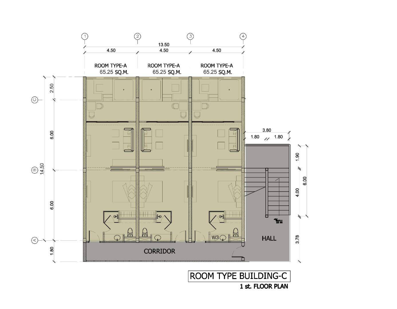 Phuket Holiday Services The Bay And The Beach Club Floor Plan Buidling C 1st Floor