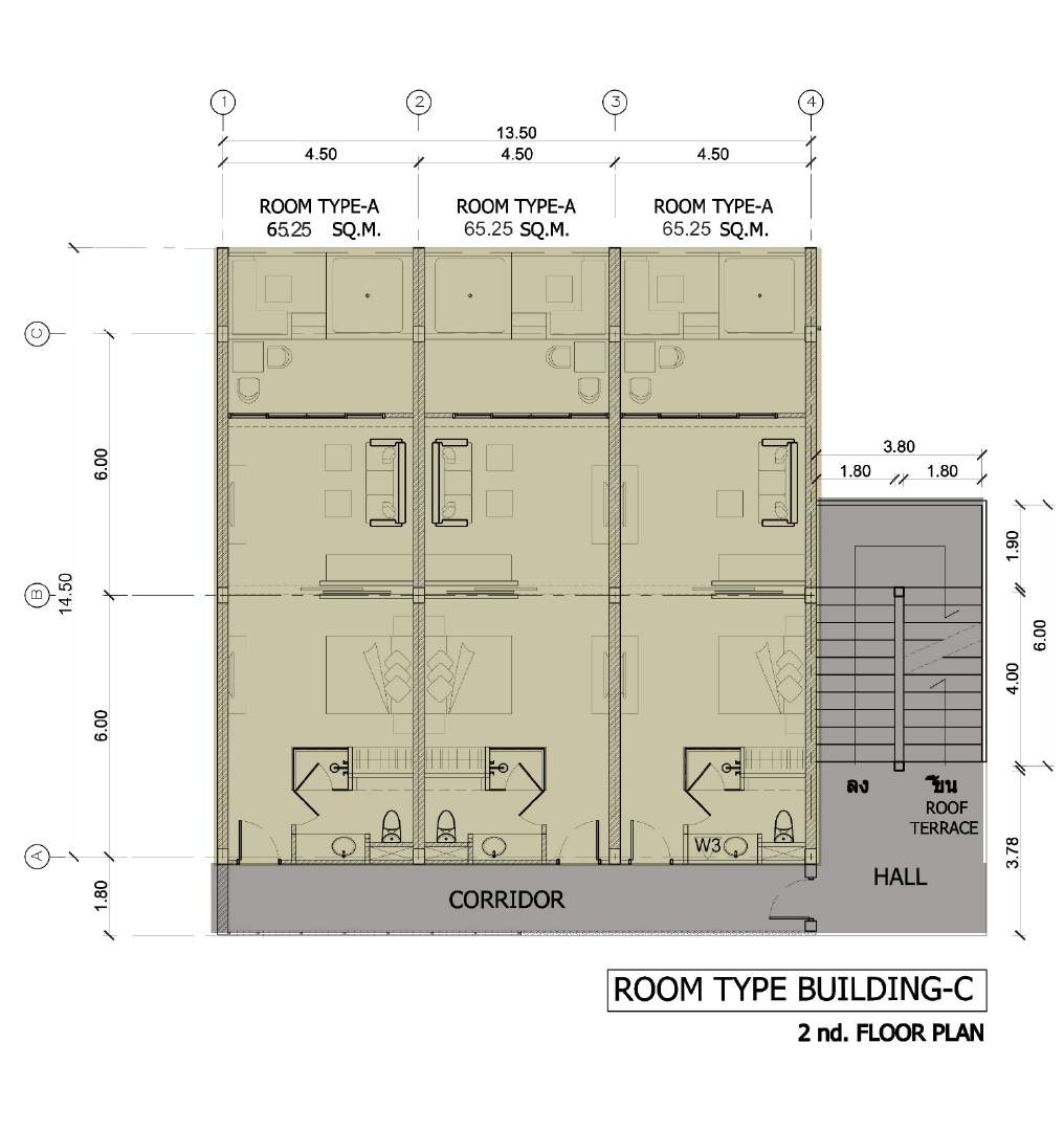 Phuket Holiday Services The Bay And The Beach Club Floor Plan Buidling C 2nd Floor