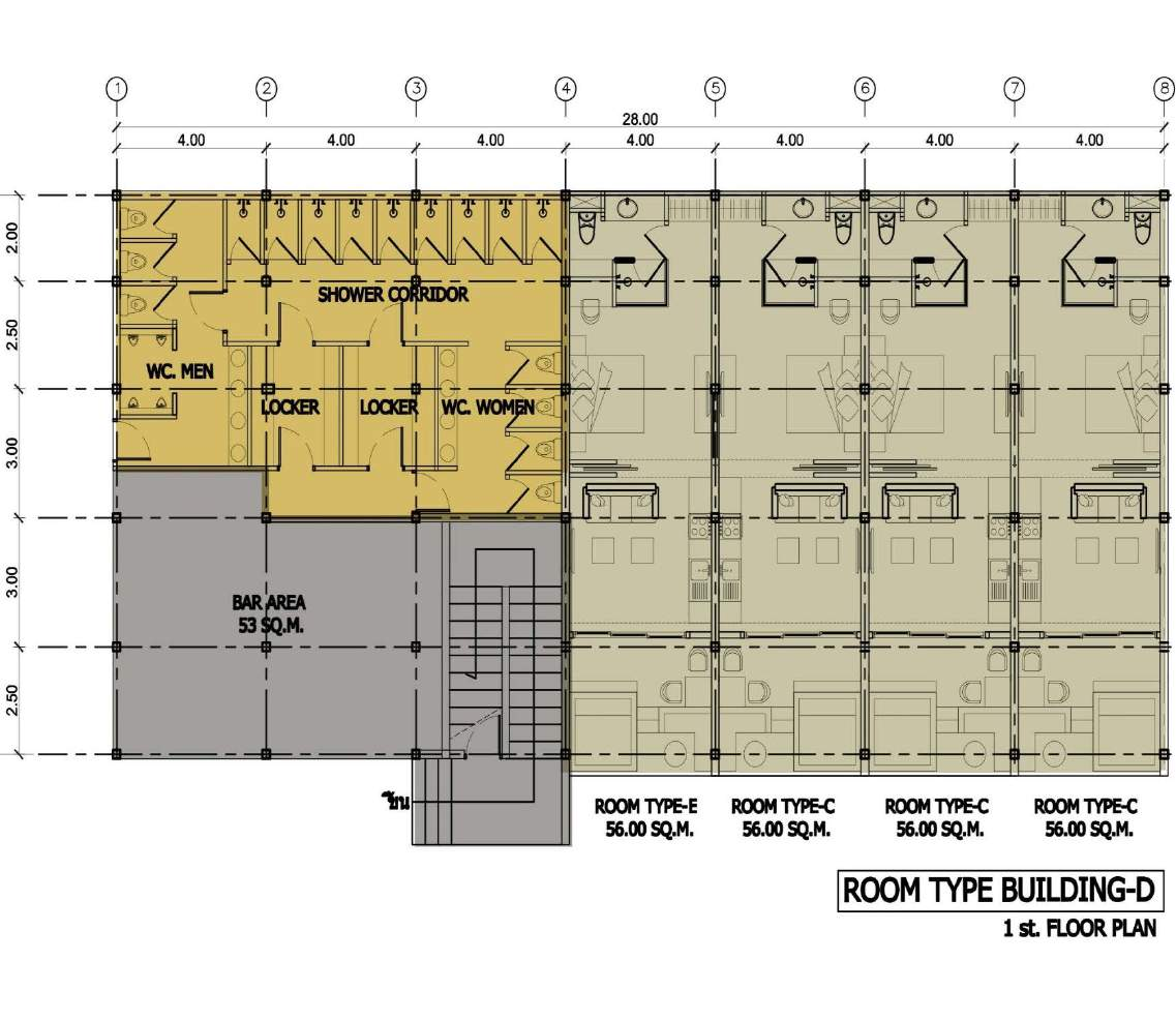 Phuket Holiday Services The Bay And The Beach Club Floor Plan Building D 1st Floor