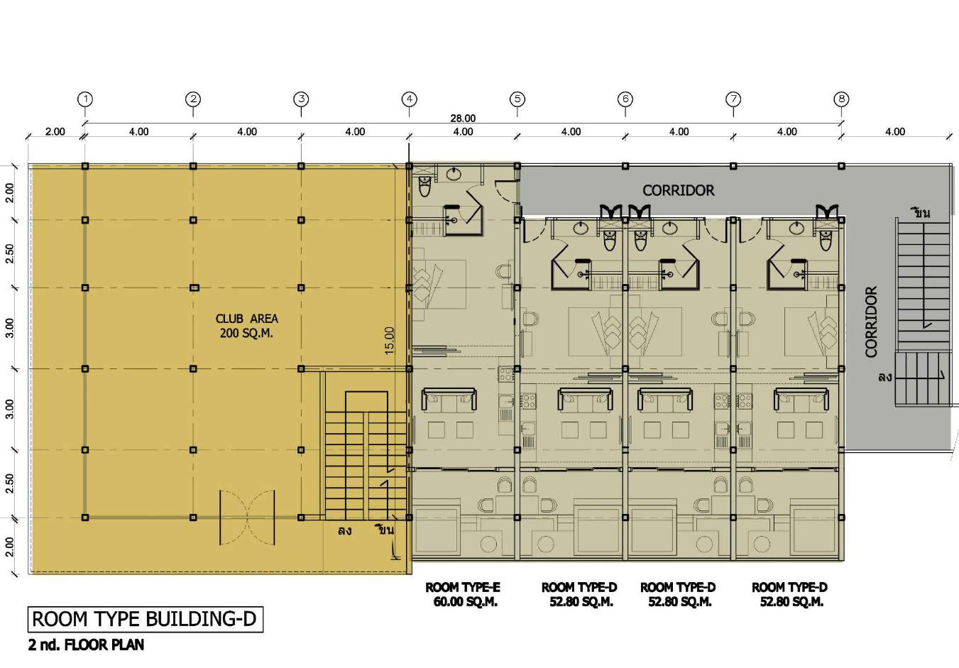 Phuket Holiday Services The Bay And The Beach Club Floor Plan Building D 2nd Floor