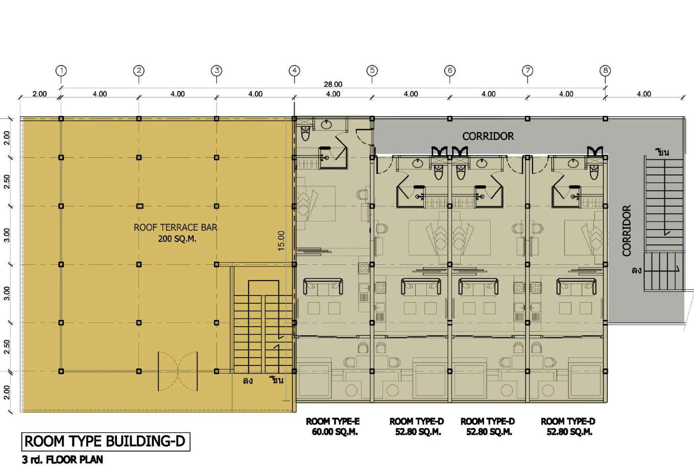 Phuket Holiday Services The Bay And The Beach Club Floor Plan Building D 3rd Floor